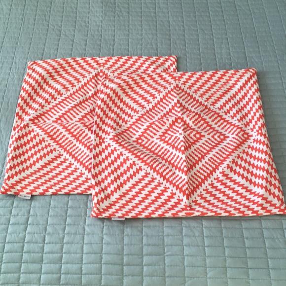 TreeWool Other - Orange Kaleidoscope Pillow Covers